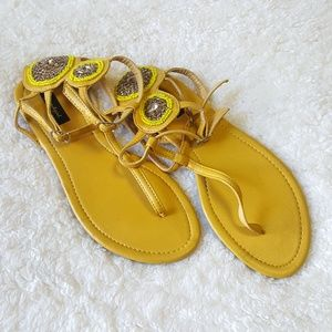 Sound Girl Women's Size 8.5 Embroidered Sandals